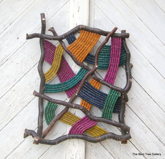 "Contemporary Woven Wall Sculpture ""Prism""  OOAK. $375,00, via Etsy."