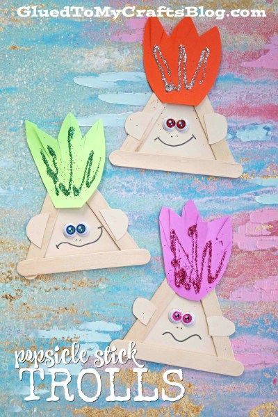 Popsicle Stick Trolls - Kid Craft Idea