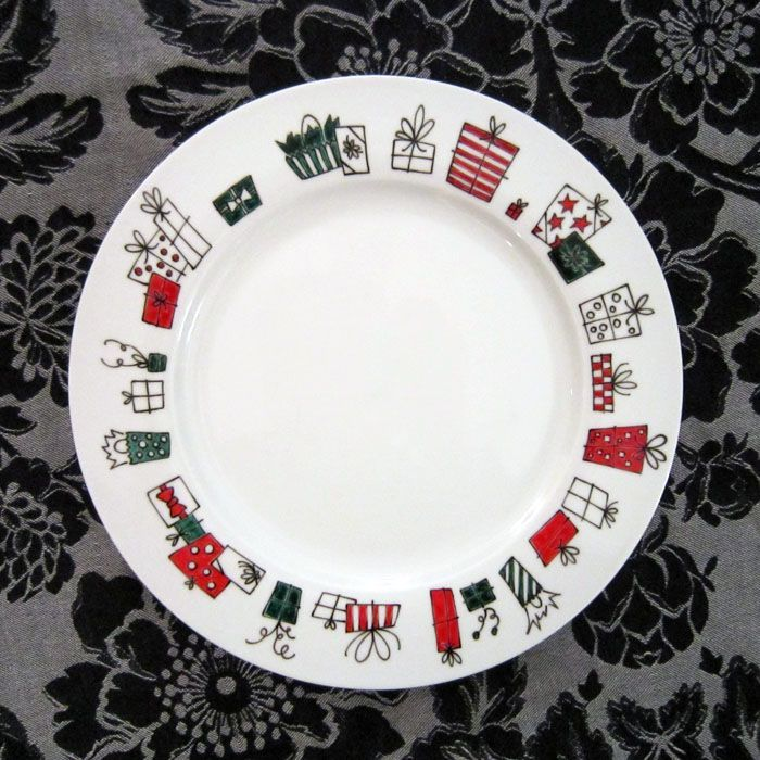 hand painted plate! .loinlondon.com & 330 best Christmas Pottery images on Pinterest | Christmas cards ...
