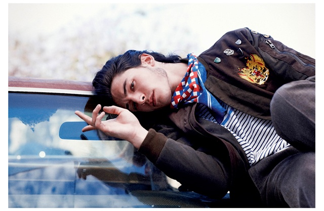 EZRA MILLER  Age: 20 Birthday: Sept. 30, 1992    ANOTHER BRICK IN THE WALL  THE YOUNG STARS OF THIS FALL'S '90S FLASHBACK THE PERKS OF BEING A WALLFLOWER OFFER A GLIMPSE OF HOLLYWOOD'S FUTURE  PHOTOGRAPHY COLLIER SCHORR FASHION JAY MASSACRET