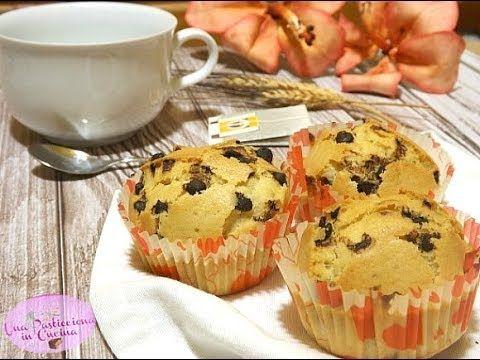 Muffin con Gocce di Cioccolato senza Burro Latte e Uova