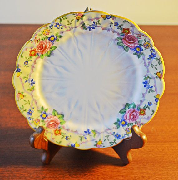 Aynsley Plate Floral Plate John Aynsley by Collectitorium on Etsy