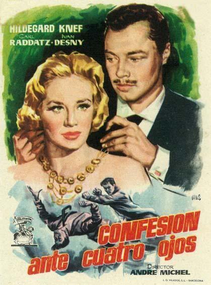 """Confesión ante cuatro ojos (1954) """"Geständnis unter vier Augen"""" de André Michel - tt0047022"""