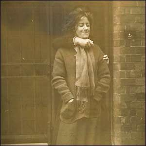 'When Evelyn Manesta, one of the Manchester suffragettes, refused to pose for a picture, a guard was brought in to restrain her in front of the camera.
