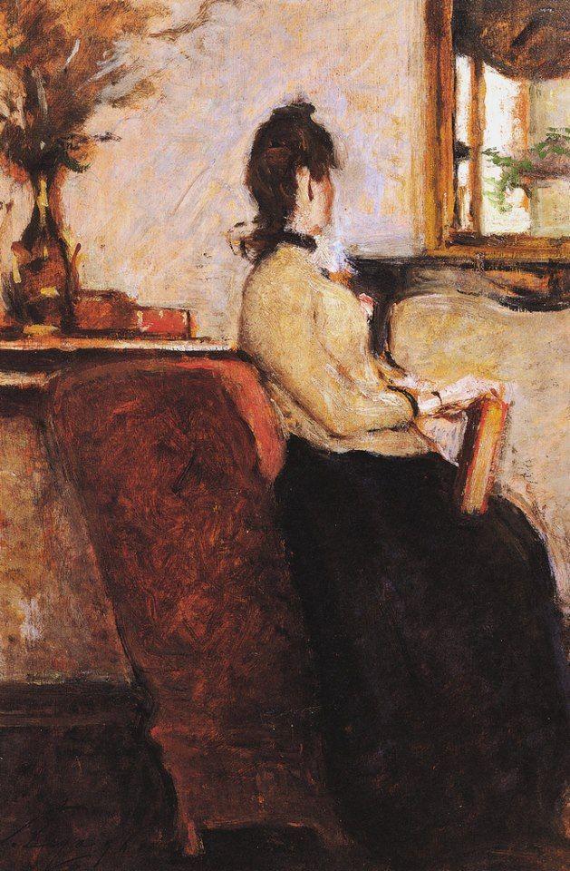 "Silvestro Lega (1826-1895)  ""In attesa"" 1894"