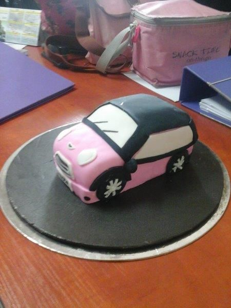 Mini Cooper Cake for Heda's Birthday