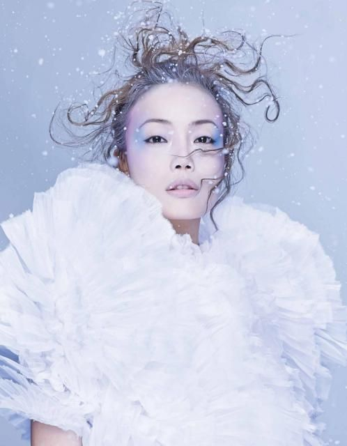 Marie Claire Hong Kong shoot #robertswood #digitalis  Photography: Kaon   Guest Model: 容祖兒   Art Direction: Anson Lau & Ricky Lau     Styling: Anson Lau, assisted by Jan Li     Makeup: Ricky Lau Hair: Heibie Mok(Hair Culture)   Manicure: Pinky Ho