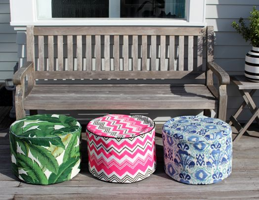 Bibby + Brady indoor/outdoor poufs