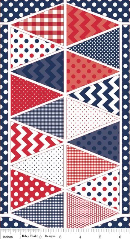 Holiday Patriotic Banner in Blue Full