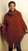 Boho Chic Crochet Ponchos - Crochet Pattern