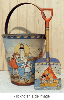 Vintage Sand pail & Shovel Set by The Beach House