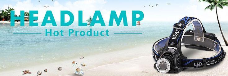 LED Headlight  Led Headlamp V6//L2//T6 Zoom Headlight Torch Flashlight Head lamp