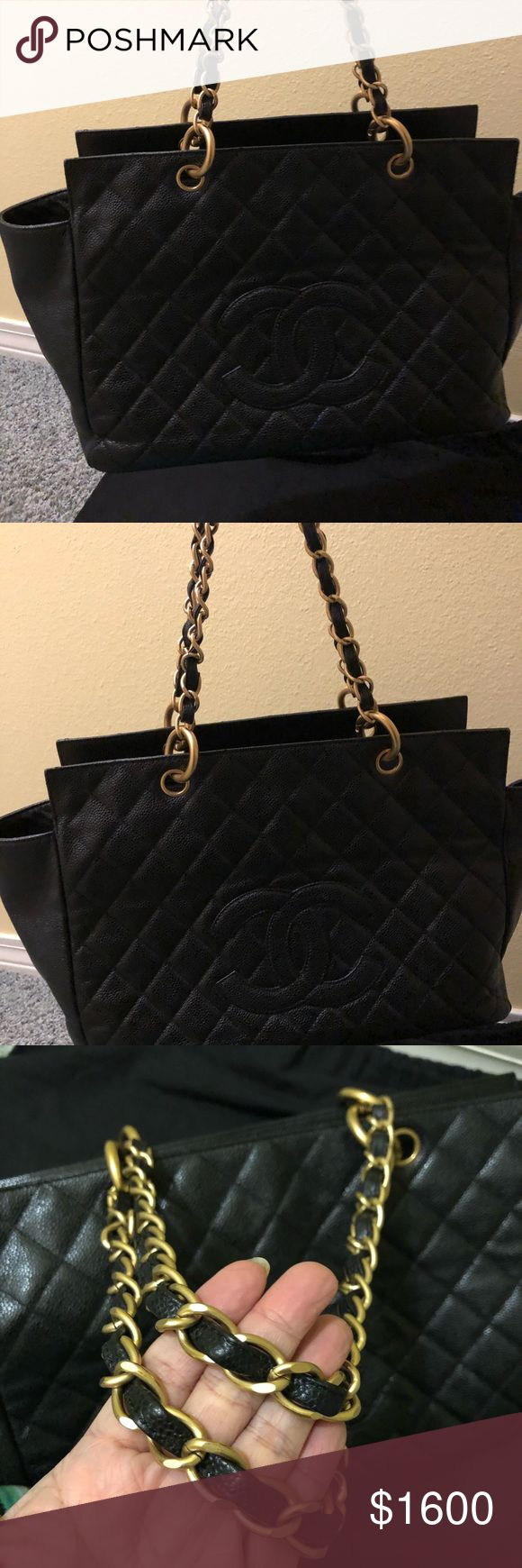 Authentic Vintage Chanel Caviar  timeless tote No inclusion ,no Authenticity card,no box , provided Dust bag Only the flaws in the Zipper the leather but Poshmark will Authenticate it CHANEL Bags Totes