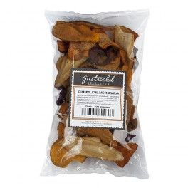 Zanahoria, remolacha y chirivia, crujientes chips de verduras para aperitivos y picar entre horas. 100grs.