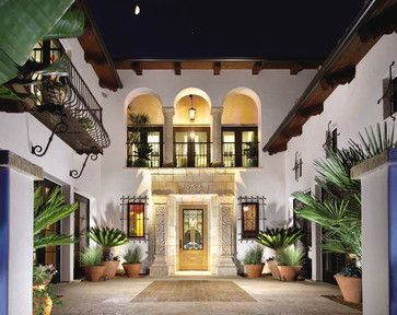 Patio layout showcasing our unique stone elements in architectural settings. - mediterranean - exterior - los angeles - Ancient Surfaces