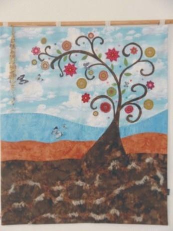 Patchworkový obraz na zeď Strom života