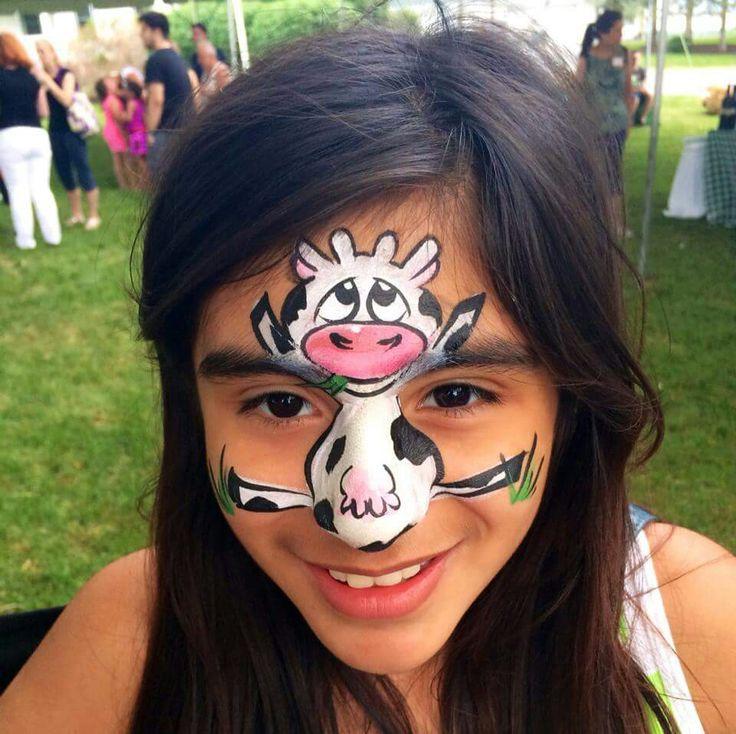 Margi Karter Cow Face Painting Design