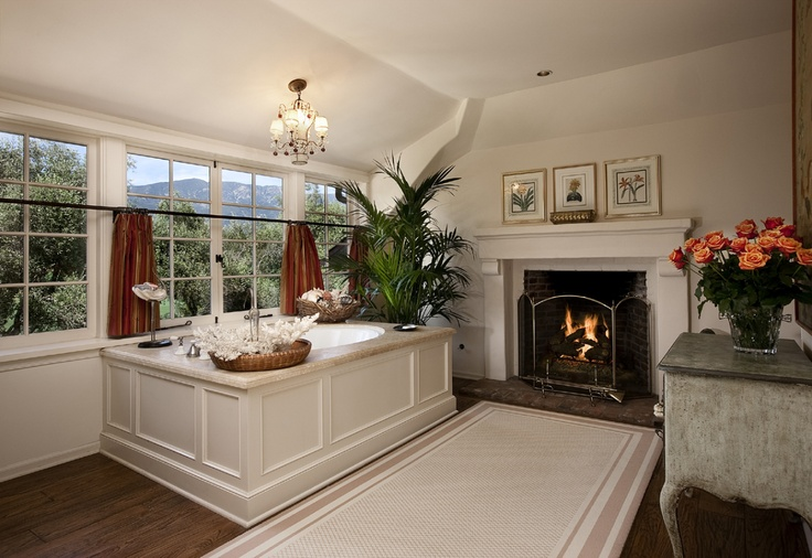 Would you want a fireplace in your bathroom?