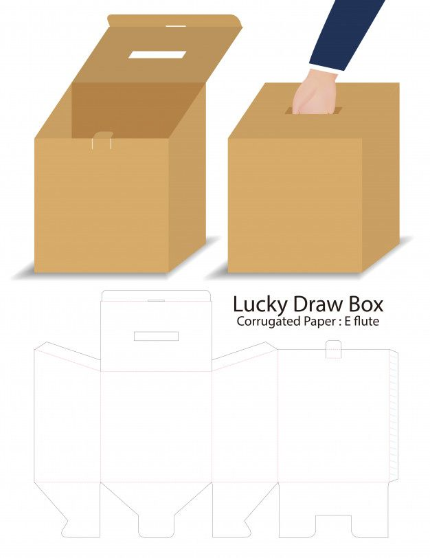 Lucky Draw Box 3d Mockup With Dieline Packaging Template Design Business Card Template Design Business Card Mock Up