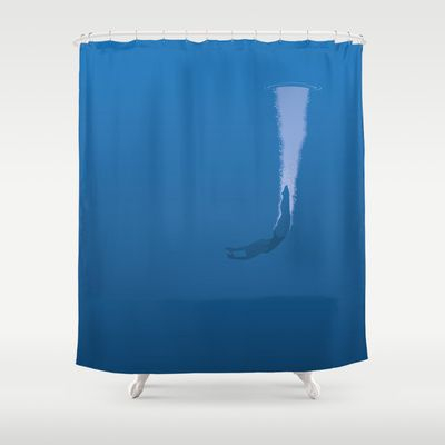 Dive Shower Curtain by Nameless Shame - $68.00