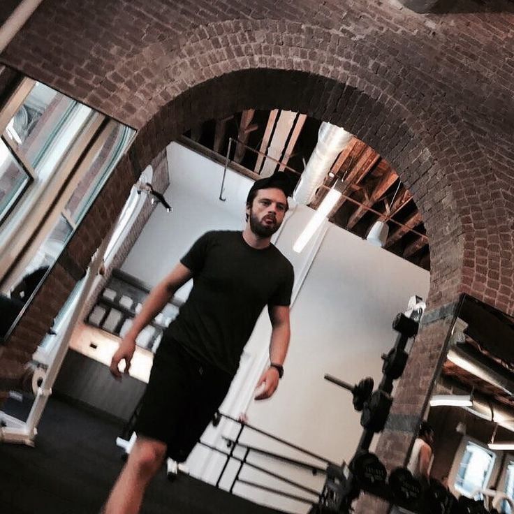 """371 Likes, 2 Comments - sebastian stan (@sebcstianstan) on Instagram: """"⠀ → 3rd July 2017, Sebastian at the gym working out via @/sukiilu on twitter. — when aint he at the…"""""""