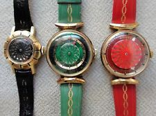 Lot of 3 Vintage Ernest Borel Kinetic- (2 skeleton) Watches  WORKING