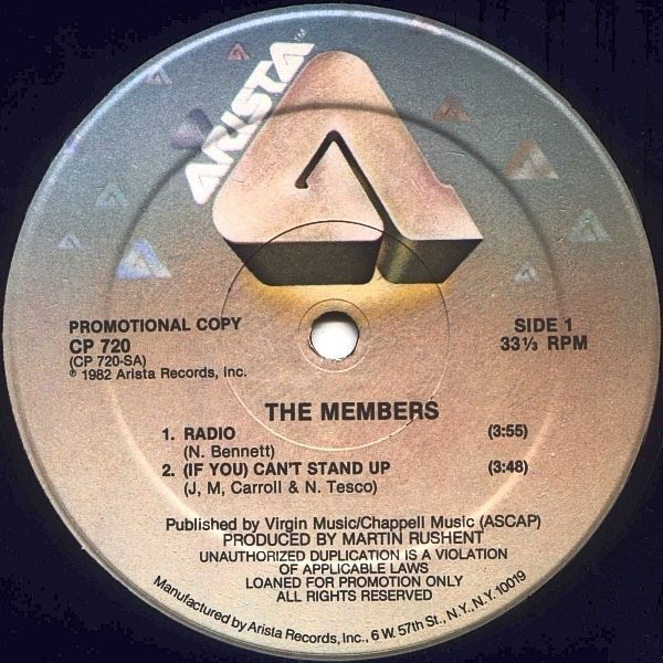 Members, The - Radio USA 1982 Maxi mint--
