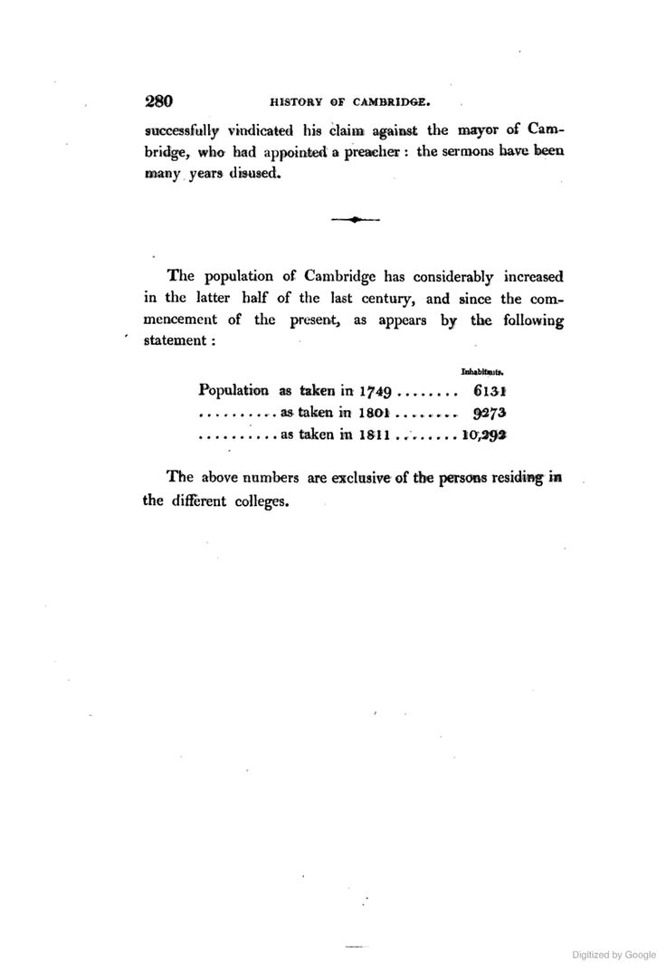 Population Of Cambridge Town History Of The University Of Cambridge  Illustrated By A Series Of