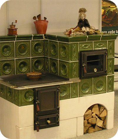 ♔ Cozy Kitchens:  stare kuchnie kaflowe