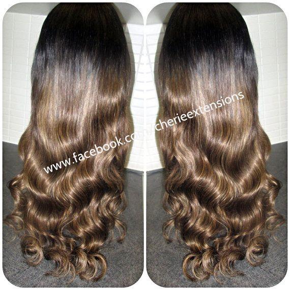 Custom U Part Wig European Balayage Dip by CherieHairExtensions