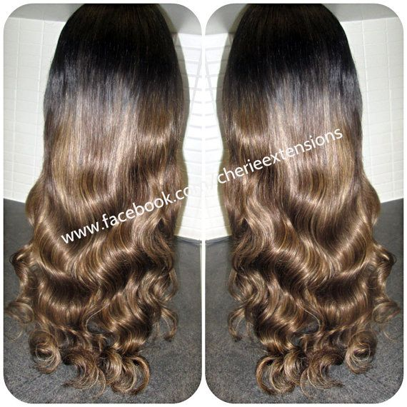 Custom U Part Wig European Balayage Dip by CherieHairExtensions