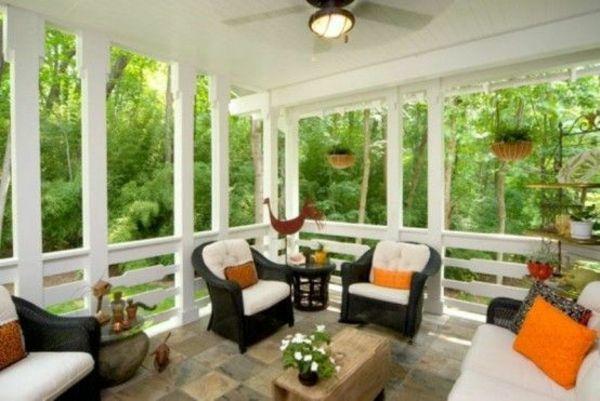 Moderne Terrassengestaltung – 100 Bilder und kreative Einfälle - terrassengestaltung modern schöne dekoideen sessel tisch