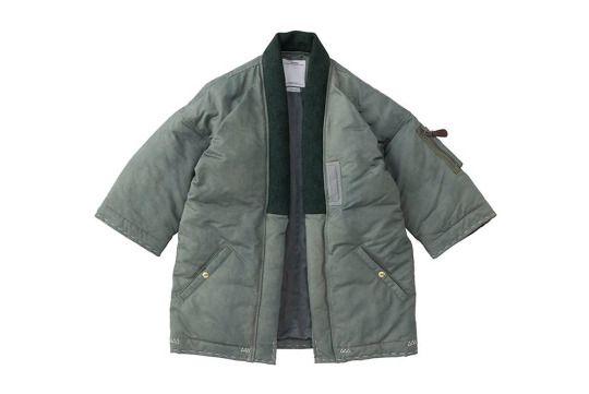 visvim sanjuro kimono down jacket 2015 fall winter