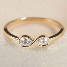 Diamond Infinity Ring in 14k White Gold,Unique Diamond Engagement Ring,Unique Engagement Ring for her,Promise Ring,Wedding Ring,Valentine's #goldweddingring #weddingring