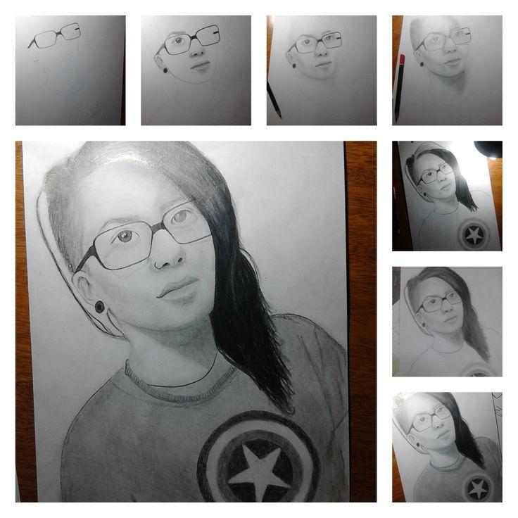Autoretrato  #Dibujo #Proceso #Lapiz #Retrato #Arte