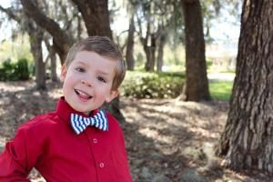 Little Mister Button On Bow Tie