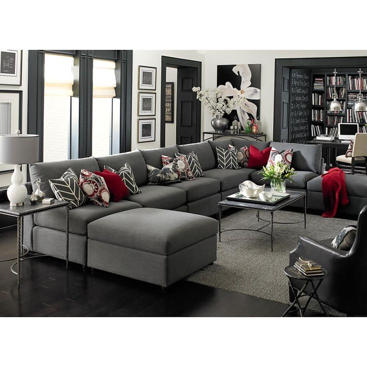 Best 25 red sectional sofa ideas on pinterest large Red and grey sofa