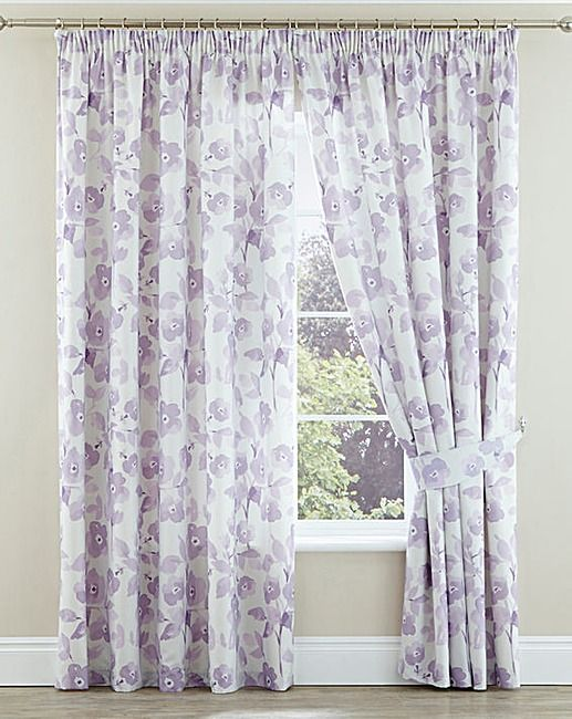 Amelina Pencil Pleat Lined Curtains | Home Essentials