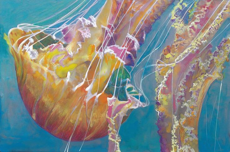 Beautiful Creatures Adult Coloring Book: Jellyfish coloring examples - Huelish Coloring Books