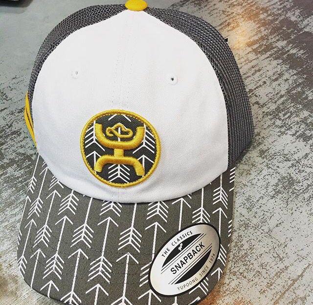 Arrow hooey hat grey and yellow