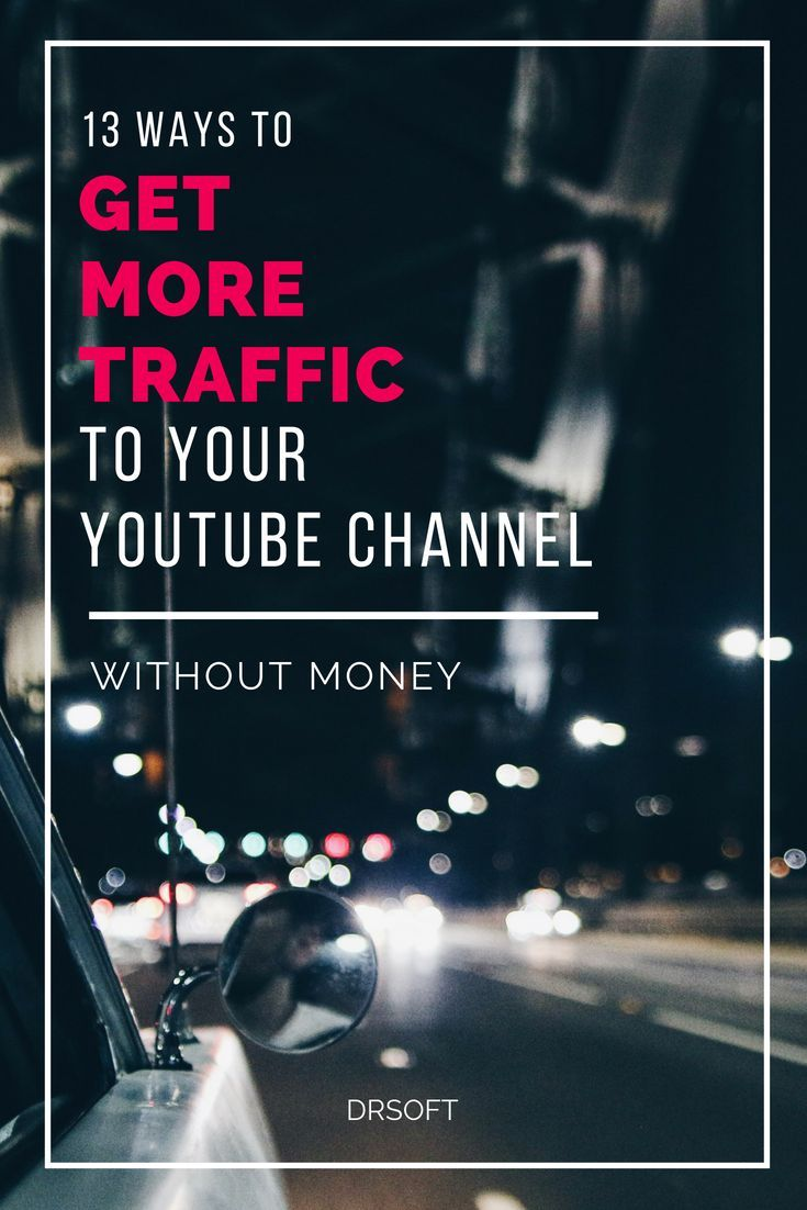 13 Ways To Promote Your Youtube Channel Without Money Social Media Marketing Help Youtube Marketing Instagram Marketing Tips