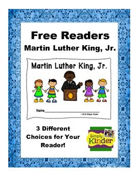 FREEBIE Looking For A Quick Simple Reader To Do With Your Students MLK Day Three Options