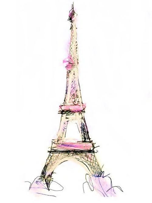 Eiffel Tower illustration, francais, France, French ...