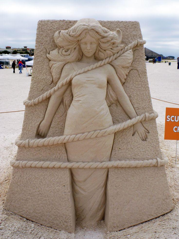 Sand Sculpture by Susanne Ruseler, Treasure Island Florida, USA, 2012. Solo, Sculptors choice and 3rd place jury.