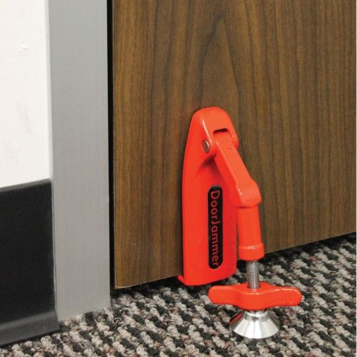 Usually ships in 1-2 business days. The DoorJammer is a new unique portable door security device for anyone needing privacy and security. It is an ideal solution for people traveling, working, or at h