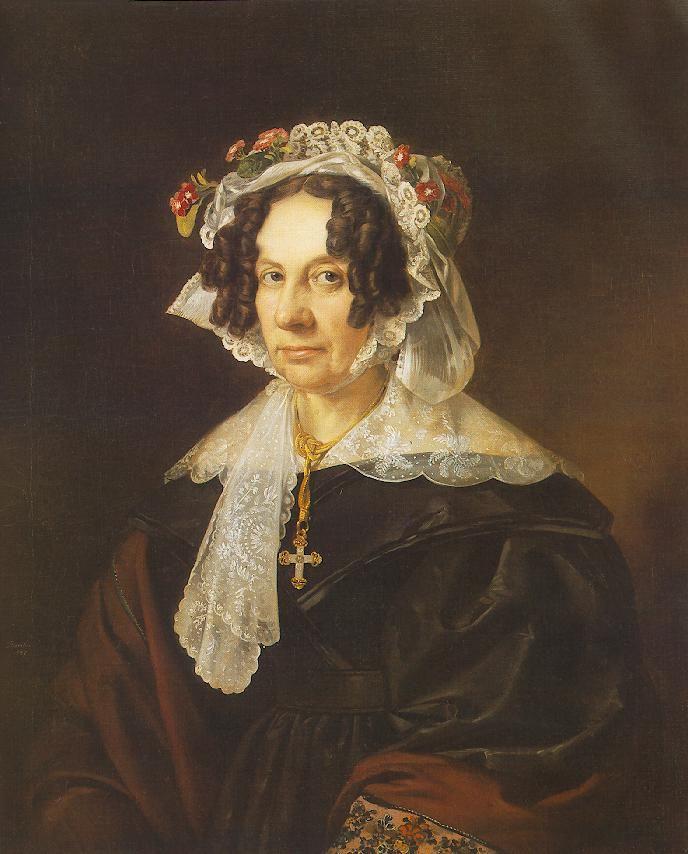 Portrait of Ms. Konkoly  by Miklós Barabás