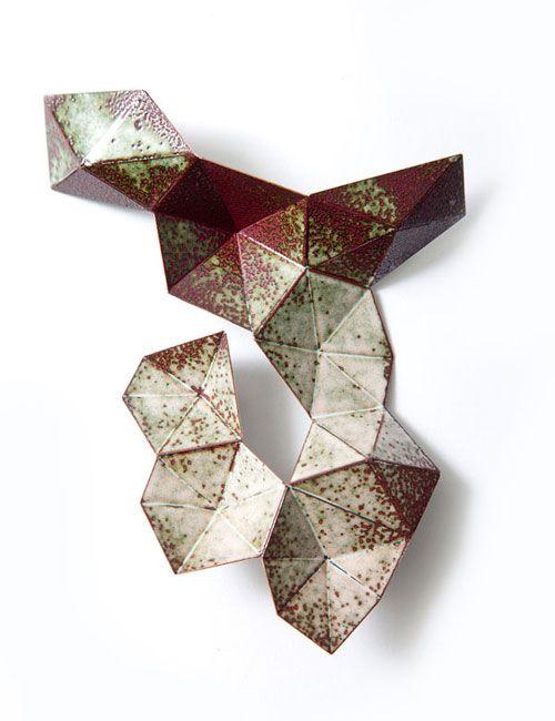Bon Jewelry,  Stellar Brooch #2 | Copper, Enamel, Laser welding & Enameling