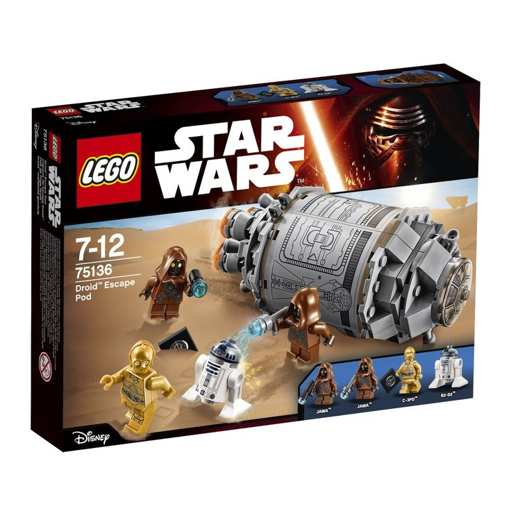 Lego - 75136 - Star Wars - Jeu de Construction - Droid Escape Pod: Amazon.fr: Jeux et Jouets