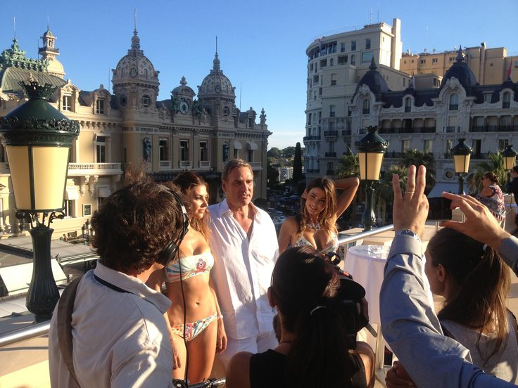 #Swimontecarlo: #JerryTommolini, #PinUpStars soul, interviewed after Pin-Up Stars show, in the the wonderful terrace of Cafe De Paris! #Montecarlo #SS2014