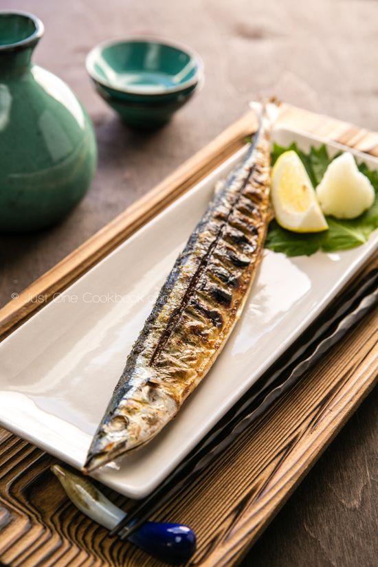 Grilled Sanma 秋刀魚の塩焼き